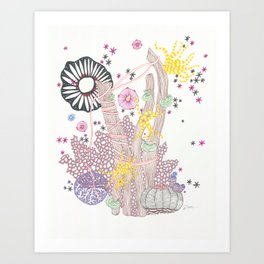 Pink Reef Art Print