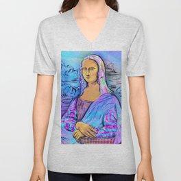 Mona Lisa Unisex V-Neck