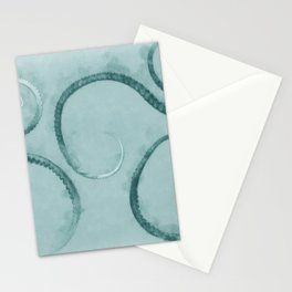 Octopus Tentacles Teal Stationery Cards