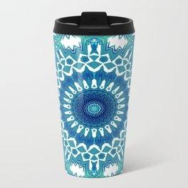 Sea Green Mandala Metal Travel Mug