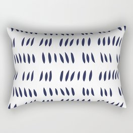 MATISSE CUTOUTS . WHITE + MIDNIGHT BLUE Rectangular Pillow