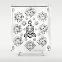 Buddha,HOME DECOR, 2,Graphic Design,Home Decor,iPhone skin,iPhone case,Laptop sleeve,Pillows,Bed,Art Shower Curtain