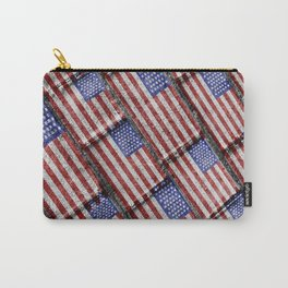 Usa Flag Grunge Pattern Carry-All Pouch