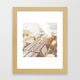 Back to the Crates Framed Art Print