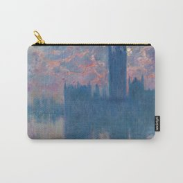 """Claude Monet """"The Houses of Parliament, at sunset"""" Carry-All Pouch"""
