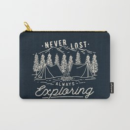 Never Lost Always Exploring (Cream) Carry-All Pouch