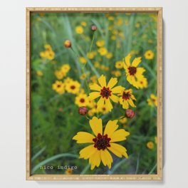 Coreopsis Bursts Serving Tray