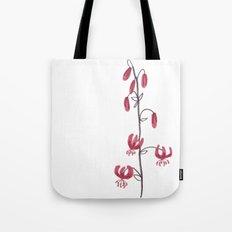 Lillium Martagon Red Flower Tote Bag