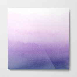 Purple Watercolor Design Metal Print