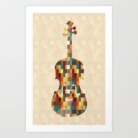 charlie Art Prints featuring Charlie by Halamo