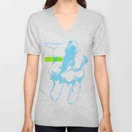 Brave, the dog Unisex V-Neck