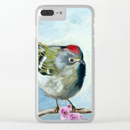 Ruby Crowned Kinglet Clear iPhone Case