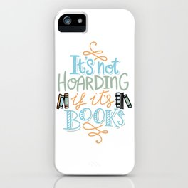Hoarding Books Summer Colors iPhone Case