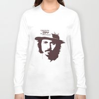 johnny depp Long Sleeve T-shirts featuring Lab No. 4 - Johnny Depp Motivational quotes Poster by Lab No. 4