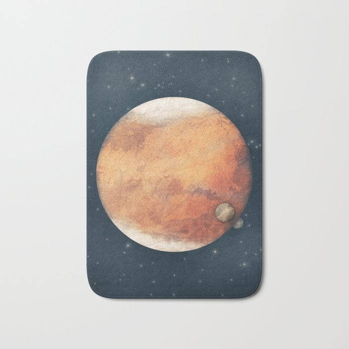 The Red Planet Bath Mat