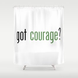 got courage LOZ Inspired Print by 1337 Land Shower Curtain