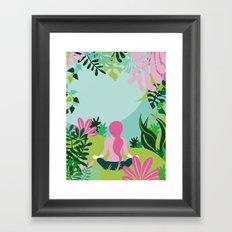 Yoga Garden Framed Art Print