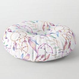 Watercolor Boho Dream Catcher Pattern Floor Pillow