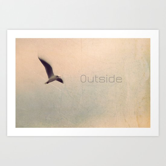 outside Art Print