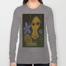 Portrait of the Artist as a Young Snail Long Sleeve T-shirt
