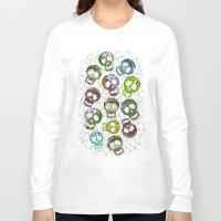 sugar skulls Long Sleeve T-shirts featuring Sugar Skulls Pattern by BluedarkArt