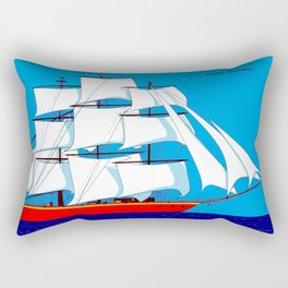 Clipper Ship in Sunny Sky - Happy Birthday on some items Rectangular Pillow