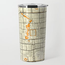 Beijing Map Moon Travel Mug