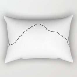 K2 Art Print / White Background Black Line Minimalist Mountain Sketch Rectangular Pillow