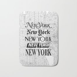 New York City black and white New York poster I love heart NYC Design black-white home wall decor Bath Mat