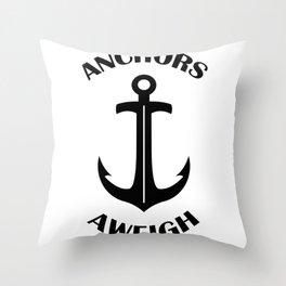 Anchors Aweigh 3 Throw Pillow