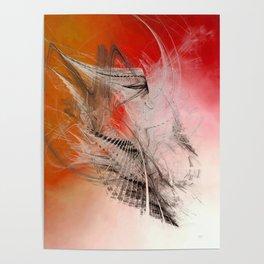 Mercury In Aries Cardinal Fire - #Abstract #Art #Illustration by Menega Sabidussi #society6 Poster