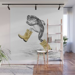 Puddle Jumping Wall Mural