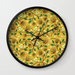 Birds pattern II Wall Clock