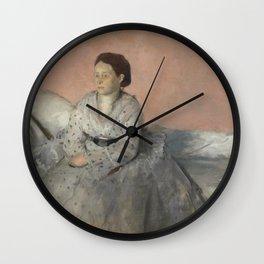 Portrait of Madame René de Gas Wall Clock