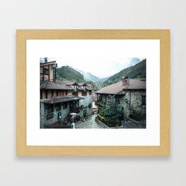 Espinama Cottages Framed Art Print