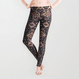 Trendy tribal geometric rose gold pattern Leggings