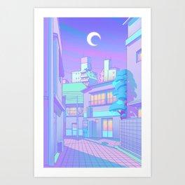 Night in Utopia Art Print