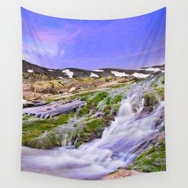 River San Juan. Waterfall At Sunset Wall Tapestry