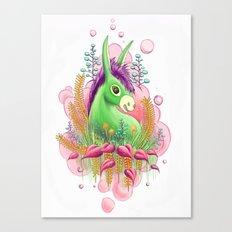 Green donkey Canvas Print