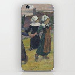 Paul Gauguin - Breton Girls Dancing, Pont-Aven iPhone Skin
