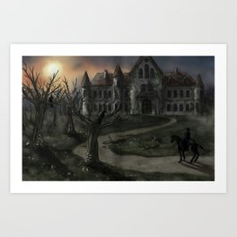 The Fall of the House of Usher Art Print
