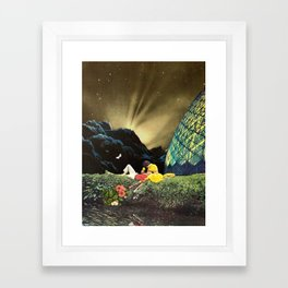 Postcard from New Iceland Framed Art Print