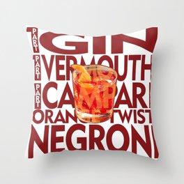 Negroni Throw Pillow