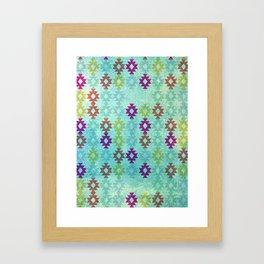 Santa Fe Dreams Geometric Aztec Colorful Design Framed Art Print