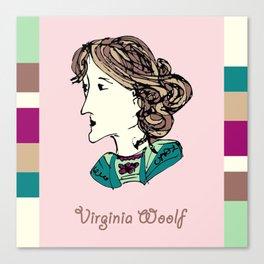 Virginia Woolf - hand-drawn portrait Canvas Print