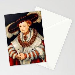 "Lucas Cranach the Elder ""Portrait of Magdalena of Saxony, Wife of Elector Joachim II of Brandenburg"" Stationery Cards"