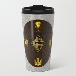 Ilvermorny Knot with House Shields Travel Mug