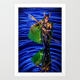 Little Loki Takes A Bow Art Print