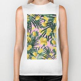 Summer Lemon Twist Jungle #6 #tropical #decor #art #society6 Biker Tank