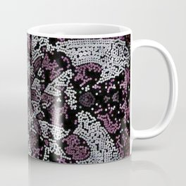 Dot Fourier Fractal Mandala Coffee Mug